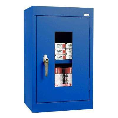 26 in. H x 16 in. W x 12 in. D Clear View Wall Cabinet in Blue