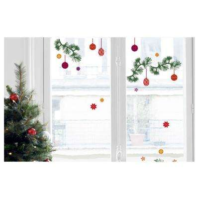 Multi-Color Christmas Themed Wall Decals