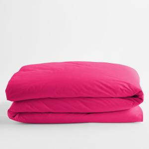 Classic Hot Pink Solid Cotton Percale Twin XL Duvet Cover