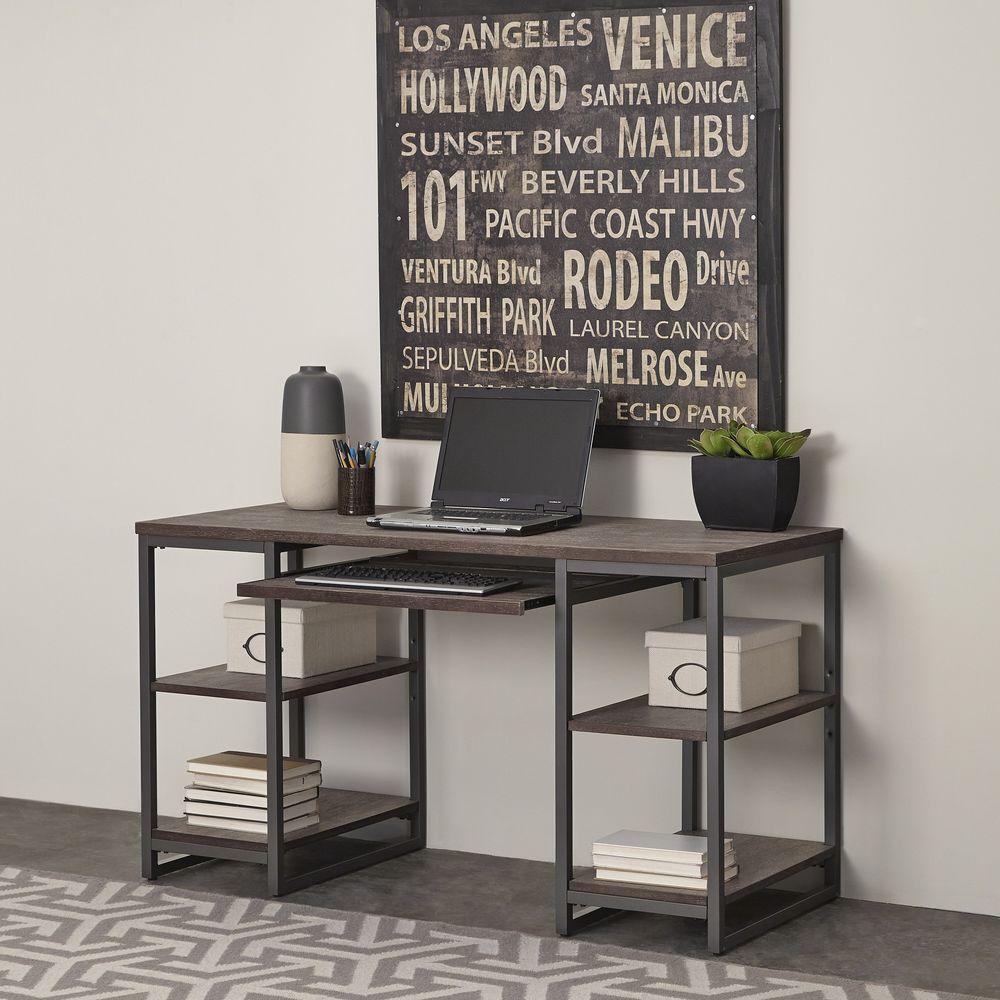Home Styles Barnside Gray Desk with Shelves