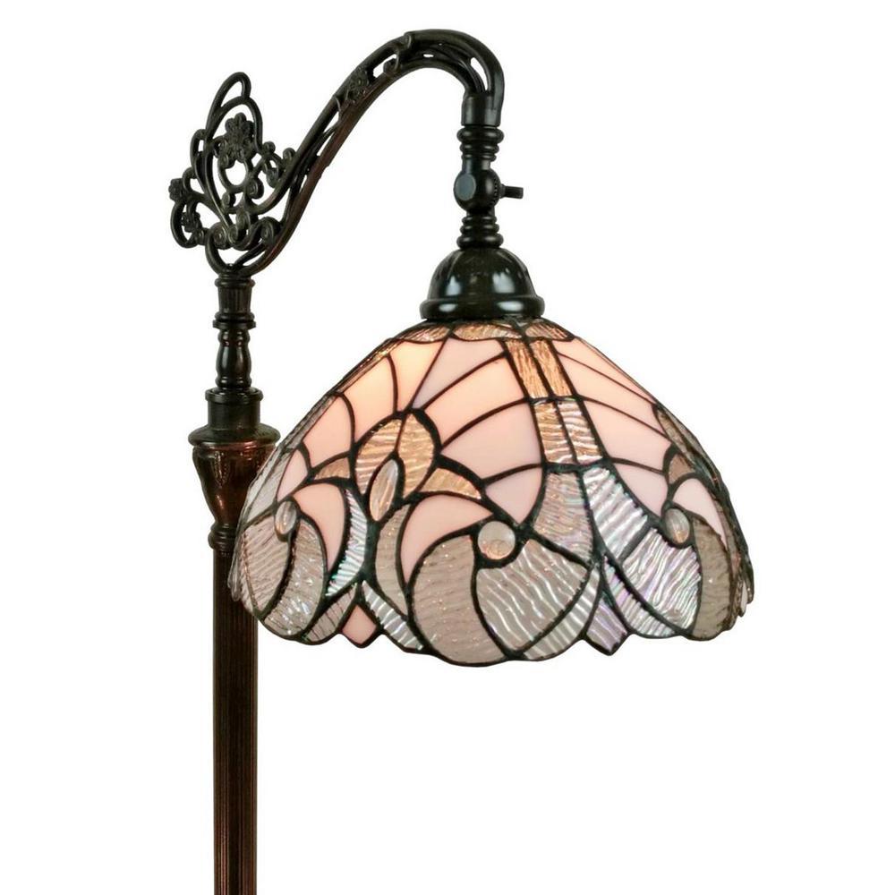 62 in. White Floor Lamp