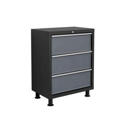 Bold Series 37 in. H x 26 in. W x 16 in. D 3-Drawer 24-Gauge Welded Steel Tool Chest in Gray