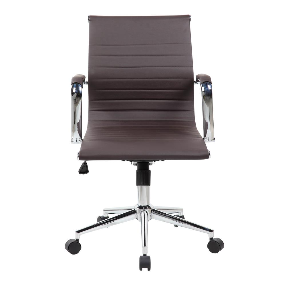 modern executive office chairs.  Executive Techni Mobili Chocolate Modern Medium Back Executive Office Chair On Chairs T