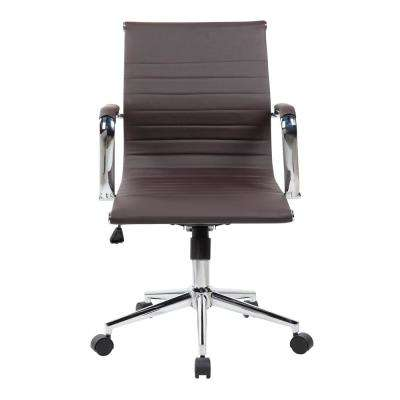 Chocolate Modern Medium Back Executive Office Chair