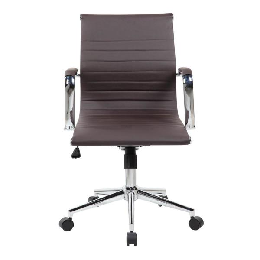 Techni Mobili Chocolate Modern Medium Back Executive Office Chair