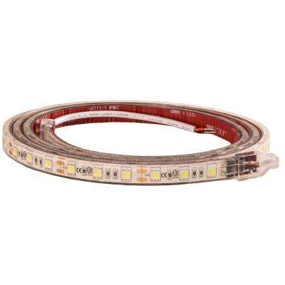 60 in. Clear Warm LED Strip Light with 3M Adhesive Back