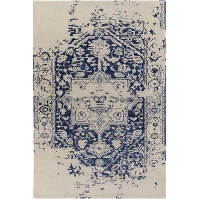 Izu Navy 9 ft. x 12 ft. Indoor Area Rug