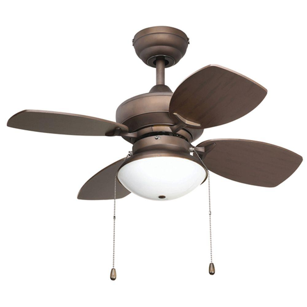 Yosemite Home Decor Hurricane Collection 28 in. Indoor Ceiling Fan with Light Kit-DISCONTINUED