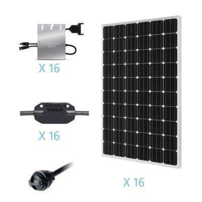 4000-Watt Monocrystalline On-Grid Solar Kit for Solar System