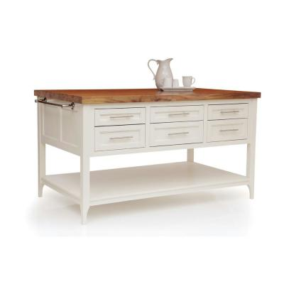 Gramercy White Kitchen Island