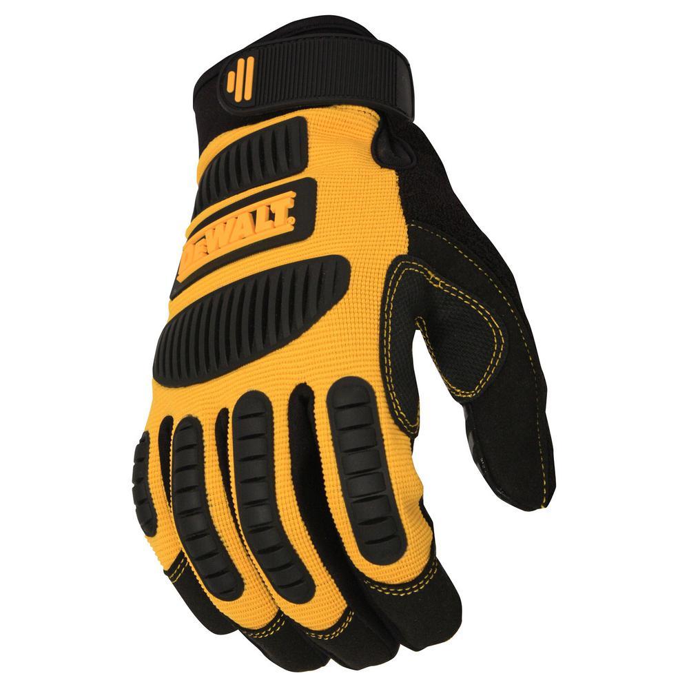 Medium Black and Yellow Performance Mechanic Work Glove
