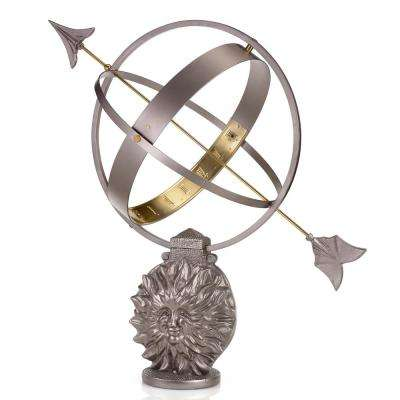 Sun and Moon Armillary Sundial