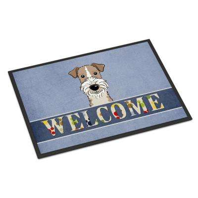 18 in. x 27 in. Indoor/Outdoor Wire Haired Fox Terrier Welcome Door Mat
