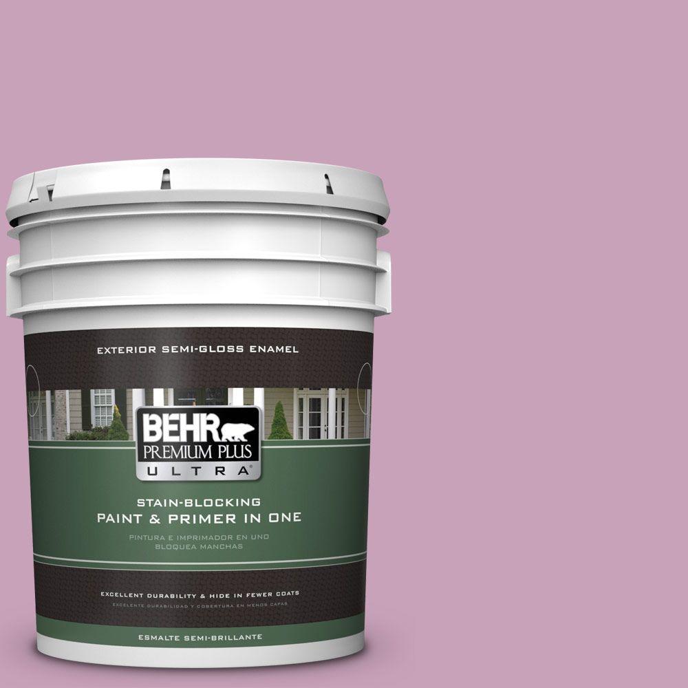5-gal. #690D-4 Taste of Berry Semi-Gloss Enamel Exterior Paint