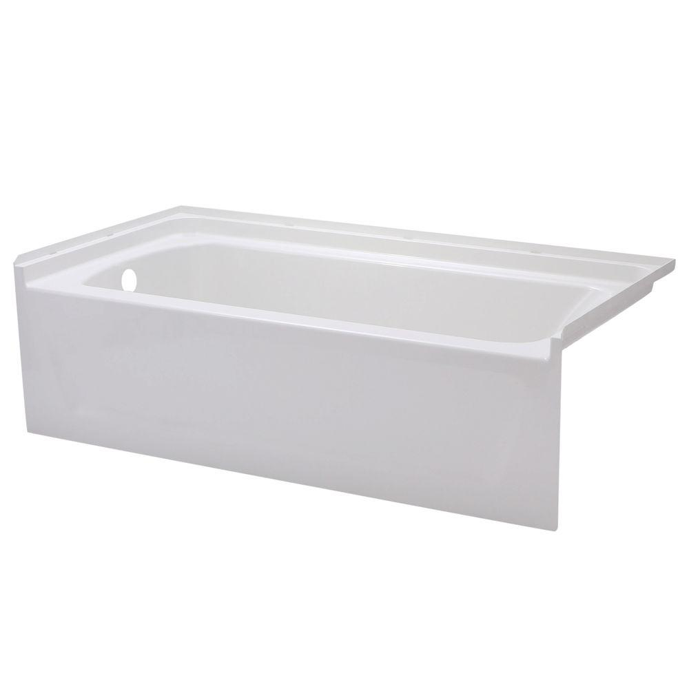STERLING Ensemble 5 ft. Left Drain Bathtub in White-71171110-0 - The ...