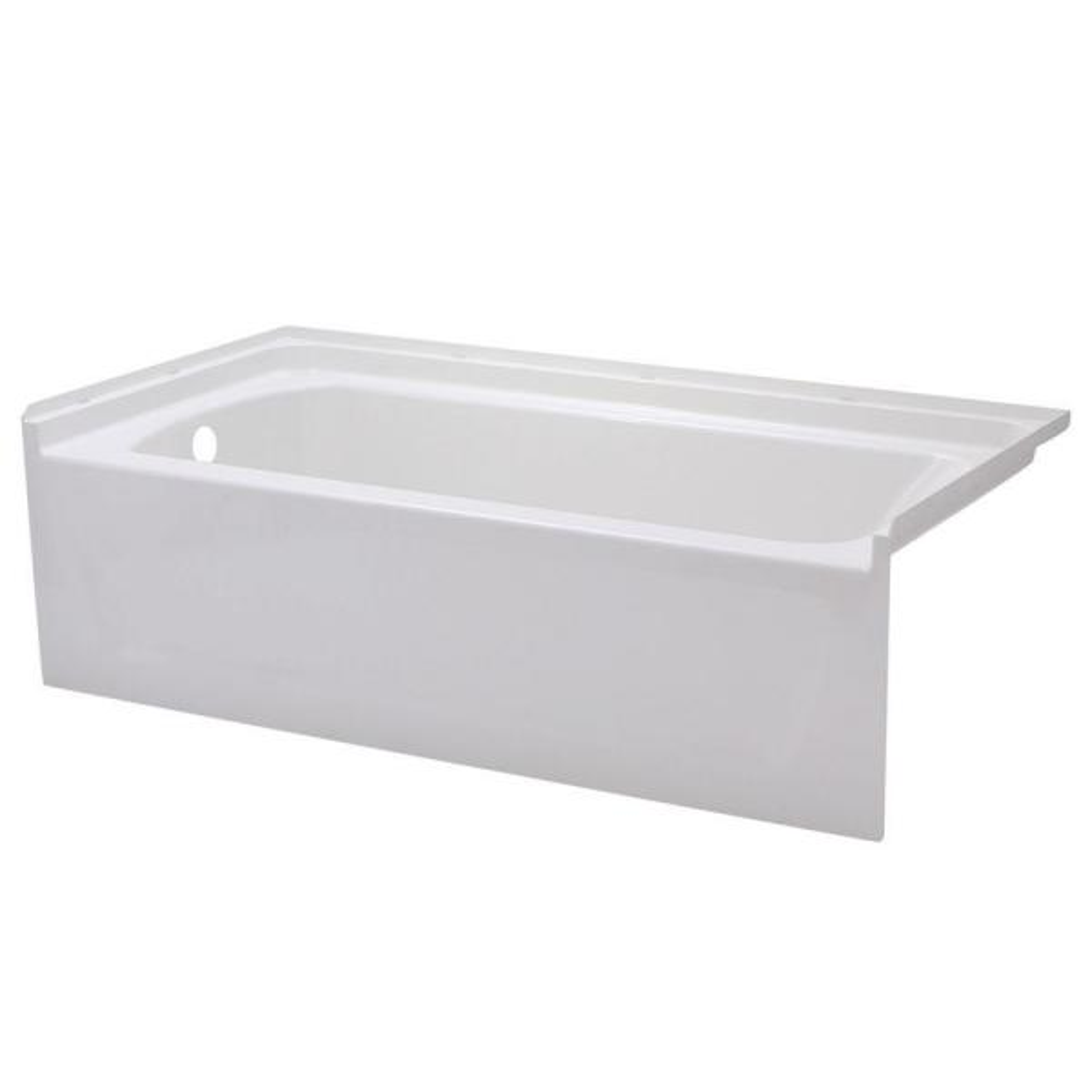 Ensemble 5 ft. Left Drain Bathtub in White