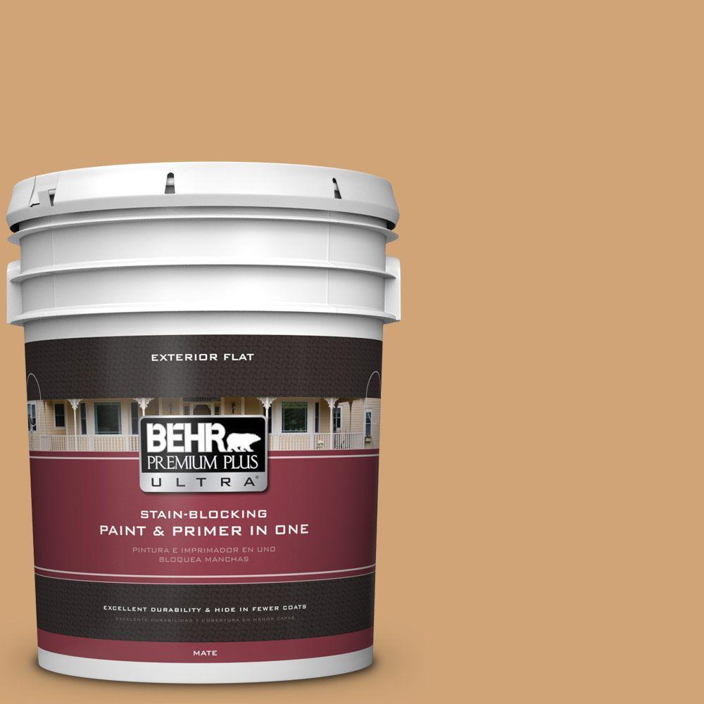 BEHR Premium Plus Ultra 5-gal. #PMD-79 Sesame Flat Exterior Paint