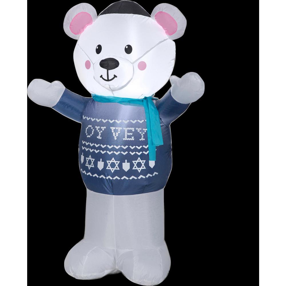 3 ft. W x 2 ft. D x 4 ft. H Inflatable Standing Polar Bear