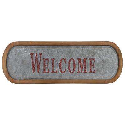 """12 in. x 36.50 in """"Welcome"""" Printed Wall Art"""
