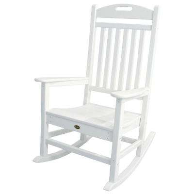 Yacht Club Classic White Patio Rocker