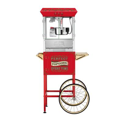 Great Northern-Perfect Popper 10 oz. Red Popcorn Machine with Cart