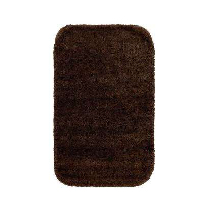 Traditional Chocolate 24 in. x 40 in. Washable Bathroom Accent Rug