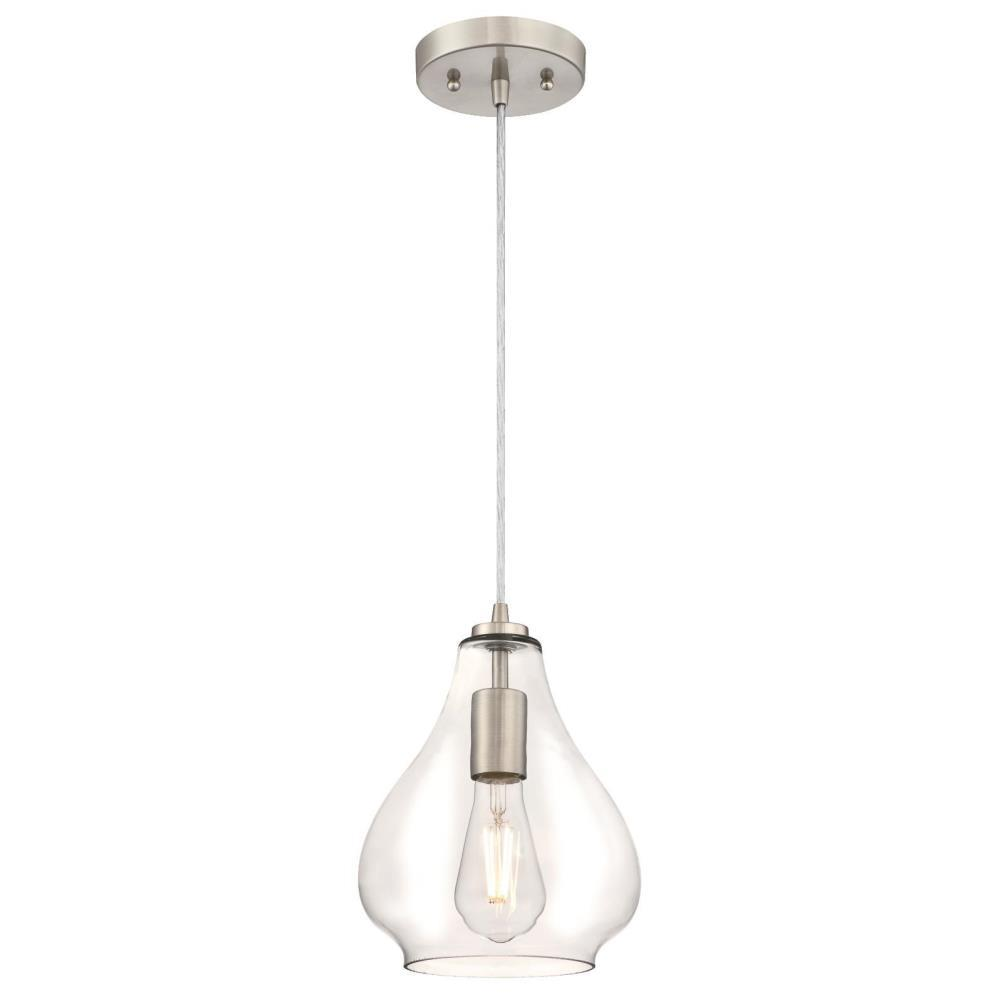 Westinghouse 1-Light Brushed Nickel Mini-Pendant-6106400