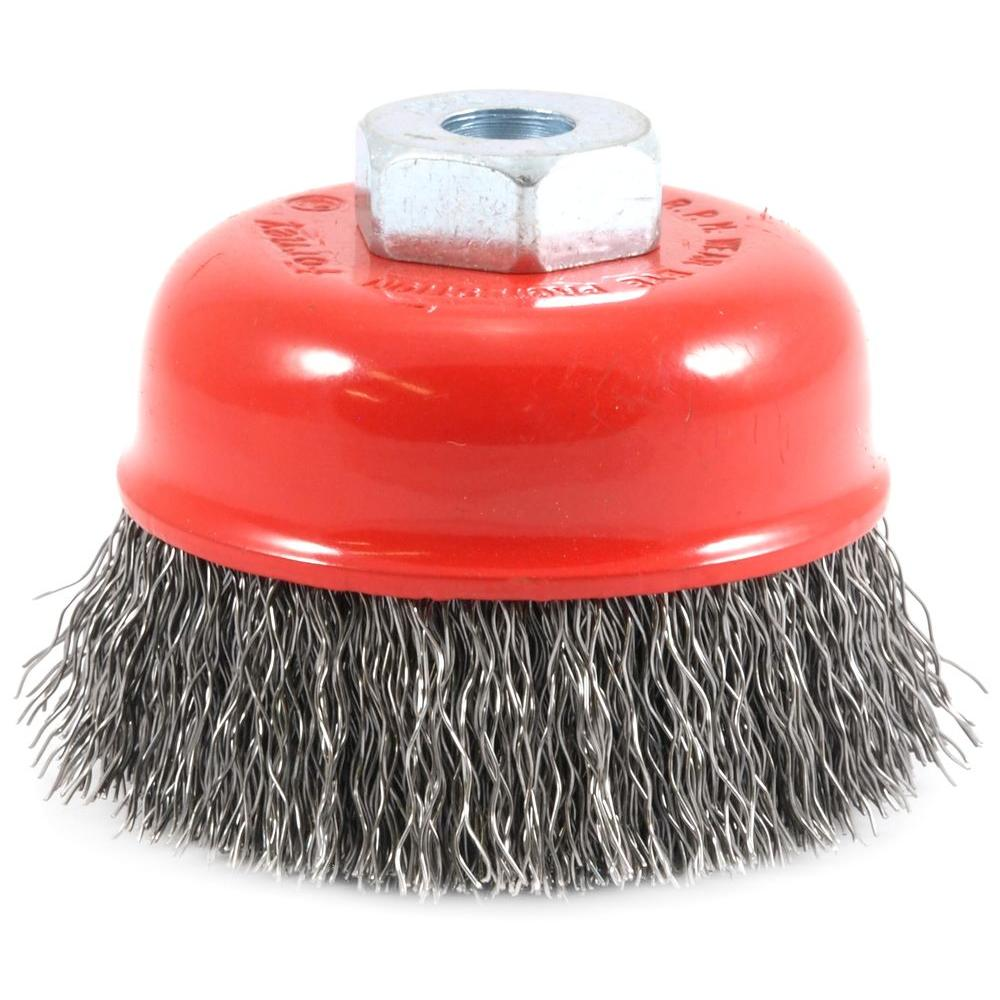 2-3/4 in. x M10 x 1.25 Arbor Crimped Wire Cup Brush