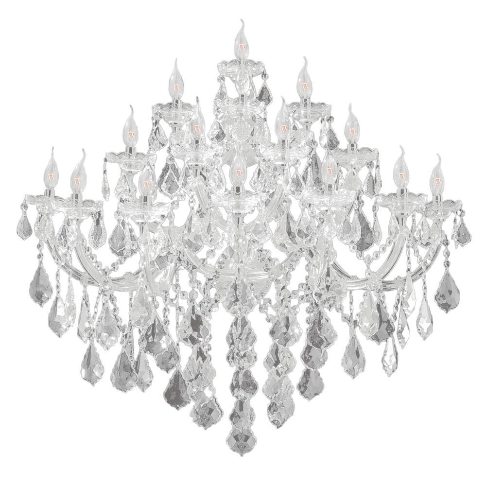 Worldwide Lighting Maria Theresa Collection 15-Light Chrome Crystal Sconce