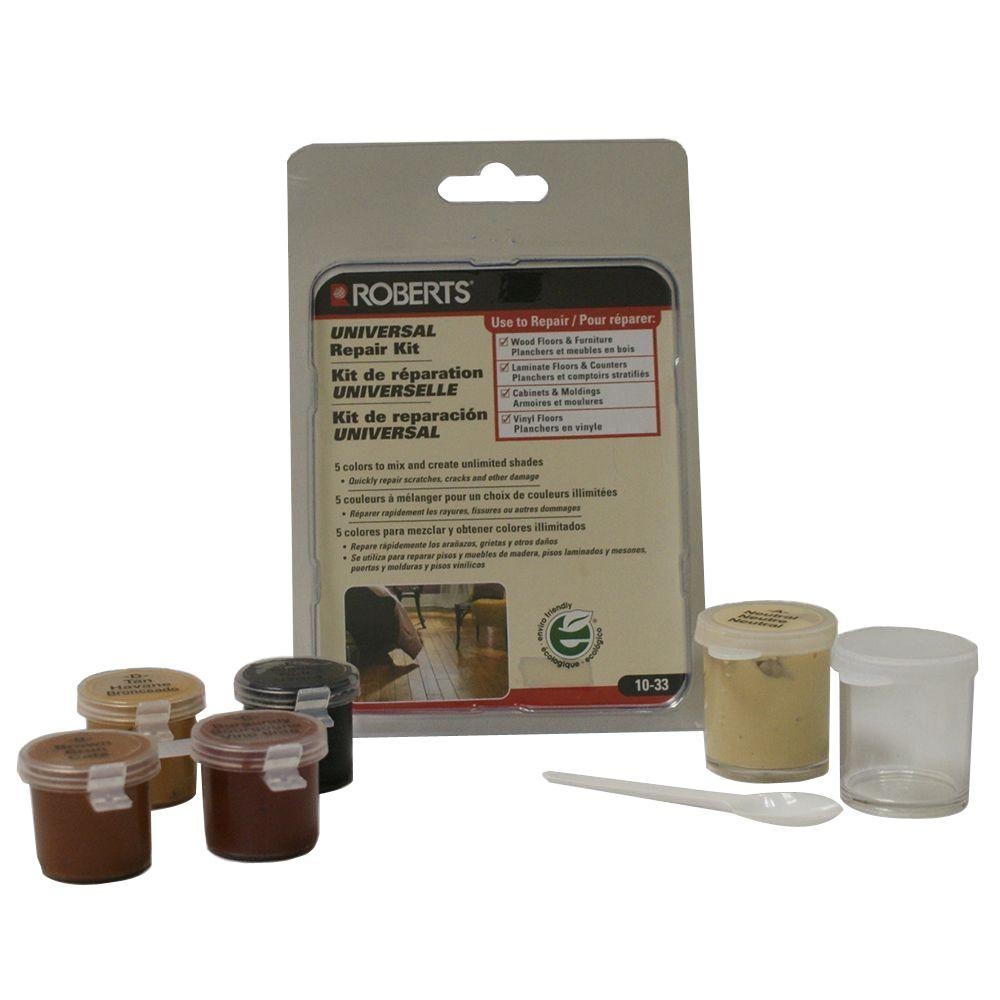 Roberts Universal Flooring Counter Cabinet And Furniture Repair Kit Use With Wood Laminate Or Vinyl