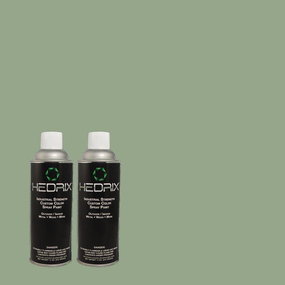 Hedrix 11 oz. Match of MQ6-11 Mossy Bench Semi-Gloss Custom Spray Paint (8-Pack)