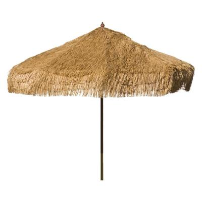 Palapa 9 ft. Wood Drape Patio Umbrella in Whiskey Brown