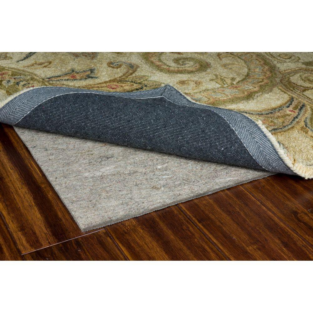 Premium All Surface Gray 6' Round Rug Pad