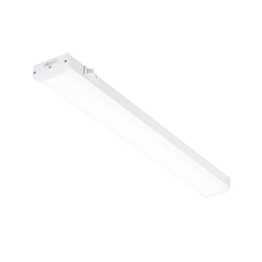 18 in. LED White Linkable Plug In Under Cabinet Light