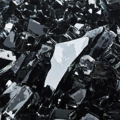 1/4 in. 10 lbs. Midnight Black Original Fire Glass for Indoor and Outdoor Fire Pits or Fireplaces
