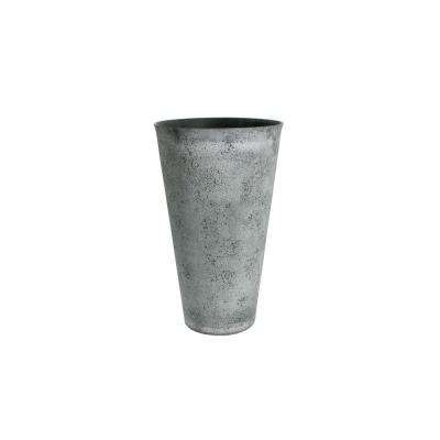 15 in. D in. x 24.5 in. H Concrete Plastic Round Tapered Vase