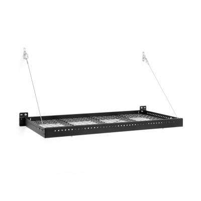 Pro Series 2 ft. x 4 ft. Wall Mounted Steel Shelf in Black (Set of 2)