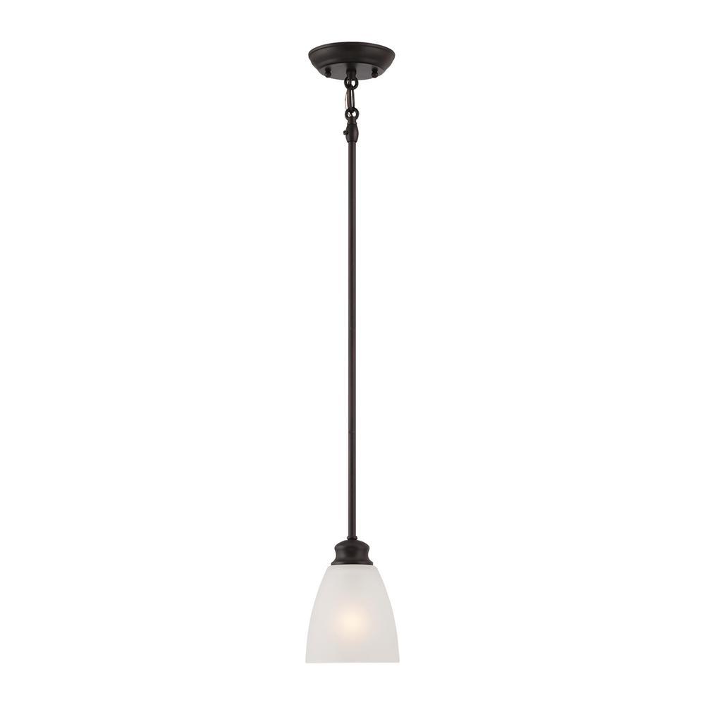 Thomas Lighting Haven 1-Light Espresso Mini Pendant-TC0014704 - The ...