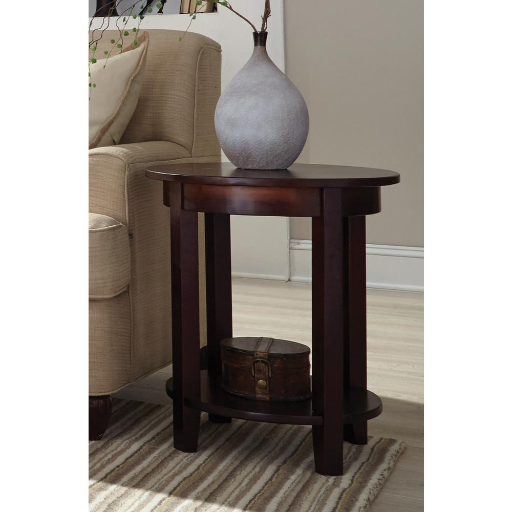 Alaterre Furniture Shaker Cottage Espresso Storage End Table