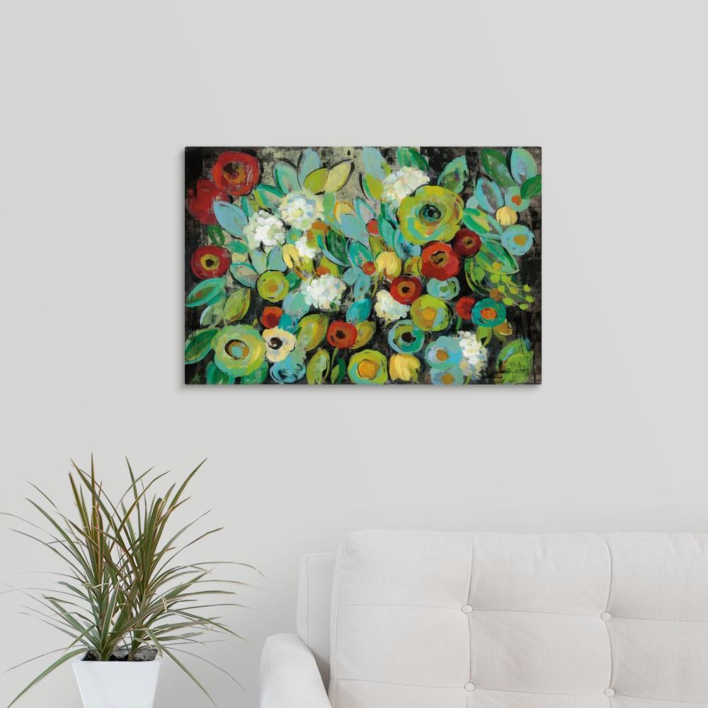 """""""Fiesta Floral"""" by Silvia Vassileva Canvas Wall Art"""