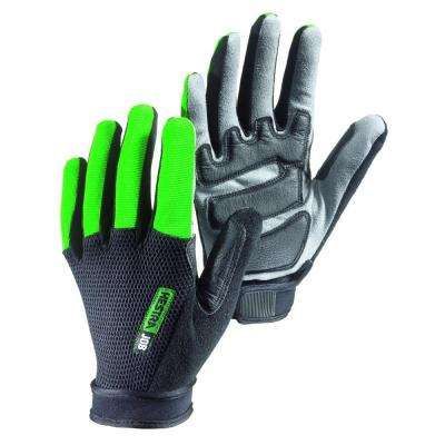 Indium Size 8 Medium Breathable Mesh Backhand Glove in Green and Black