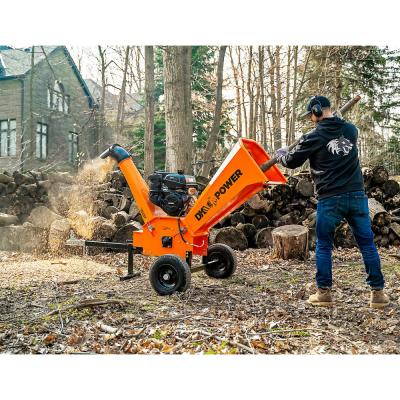 6 in. 14 HP Gas Powered Kohler Engine Certified Commercial Chipper Shredder with Extended Axles and Trailer Tow Hitch