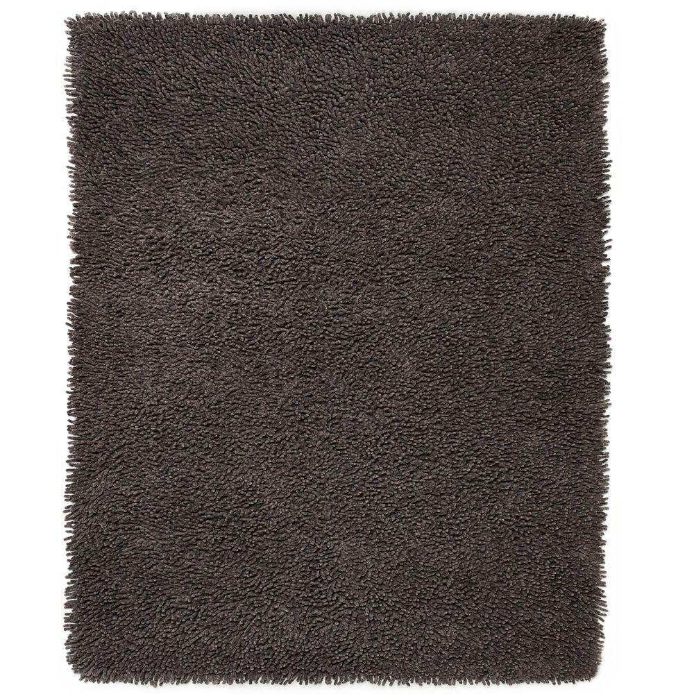 Graphite Silky Shag 3 ft. x 5 ft. Area Rug