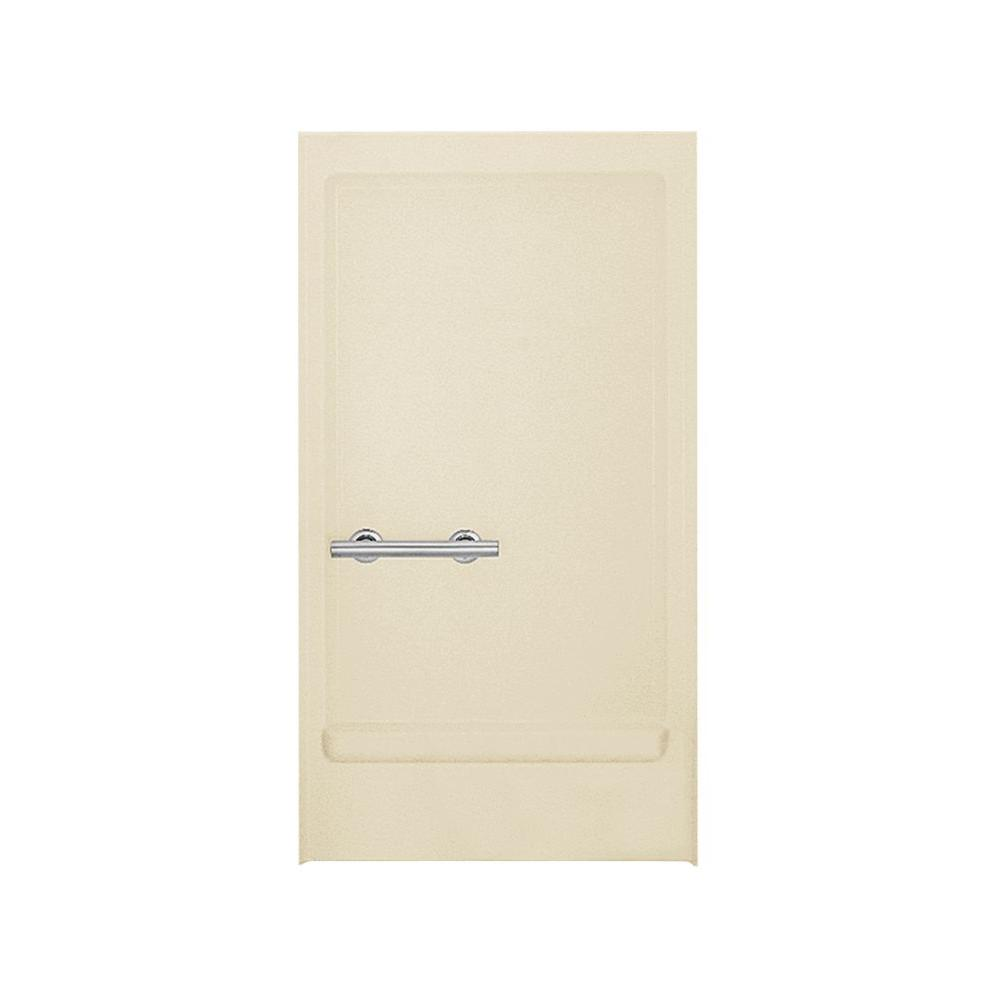 STERLING 1-1/4 in. x 39-3/8 in. 1-Piece Direct-to-Stud Transfer Shower Back Wall with Grab Bar in Almond-DISCONTINUED