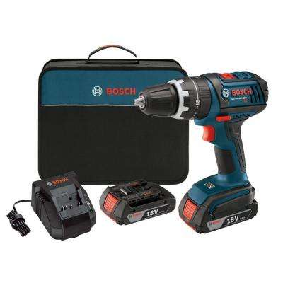 Reconditioned Lithium-Ion Cordless Variable Speed Hammer Drill/Driver Kit with 2-2.0 Ah Batteries, Charger, and Case