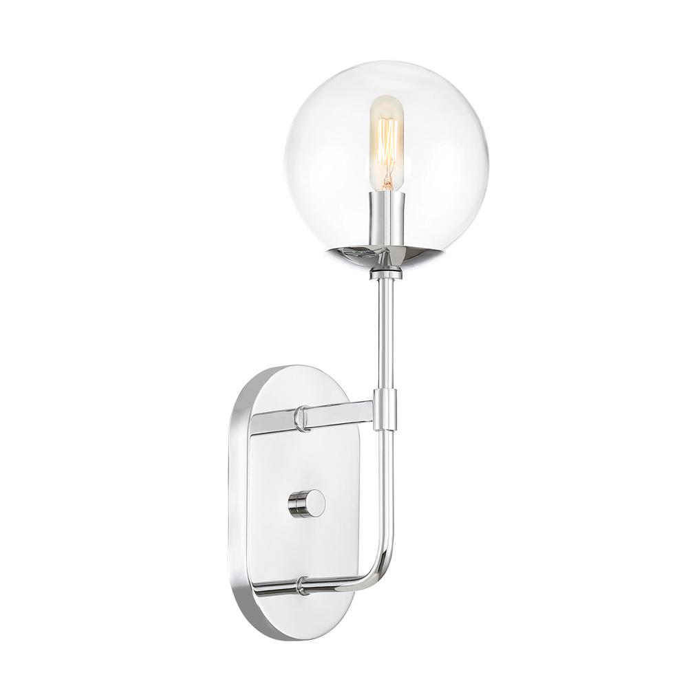 Designers fountain welton 1 light chrome interior wall sconce