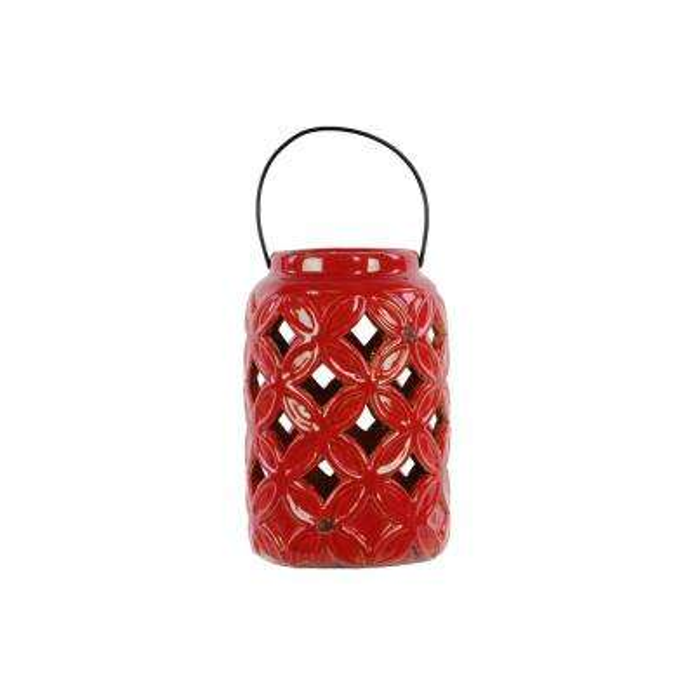 Red Candle Ceramic Decorative Lantern