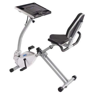 2-in-1 Recumbent Exercise Bike Workstation and Standing Desk