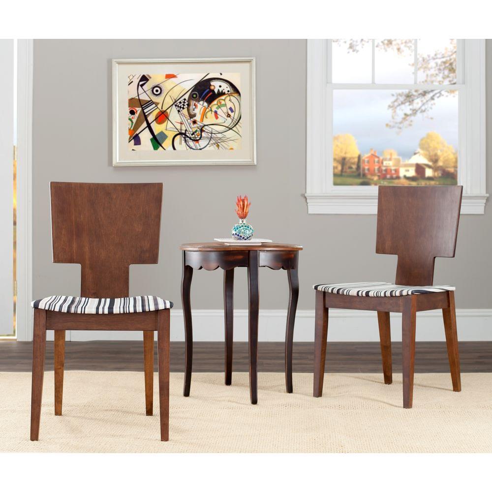 Safavieh Rick Dark Walnut Side Chair
