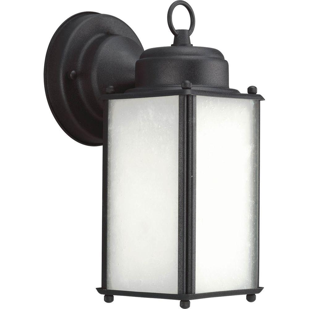 Progress Lighting Roman Coach Collection 1-Light 10 in. Outdoor Black Wall Lantern Sconce